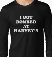 Vintage I Got Bombed at Harveys: Harvey's Wagon Wheel Explosion Shirt 1980 Long Sleeve T-Shirt