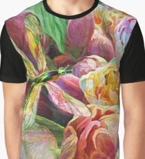 Dragonfly And Tulips Graphic T-Shirt