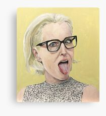 Gillian Anderson Tongue Out Original Painting Canvas Print