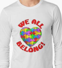 """We all belong"" Autism Awareness Heart T-Shirt"