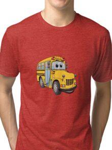 School Bus Cartoon Tri-blend T-Shirt