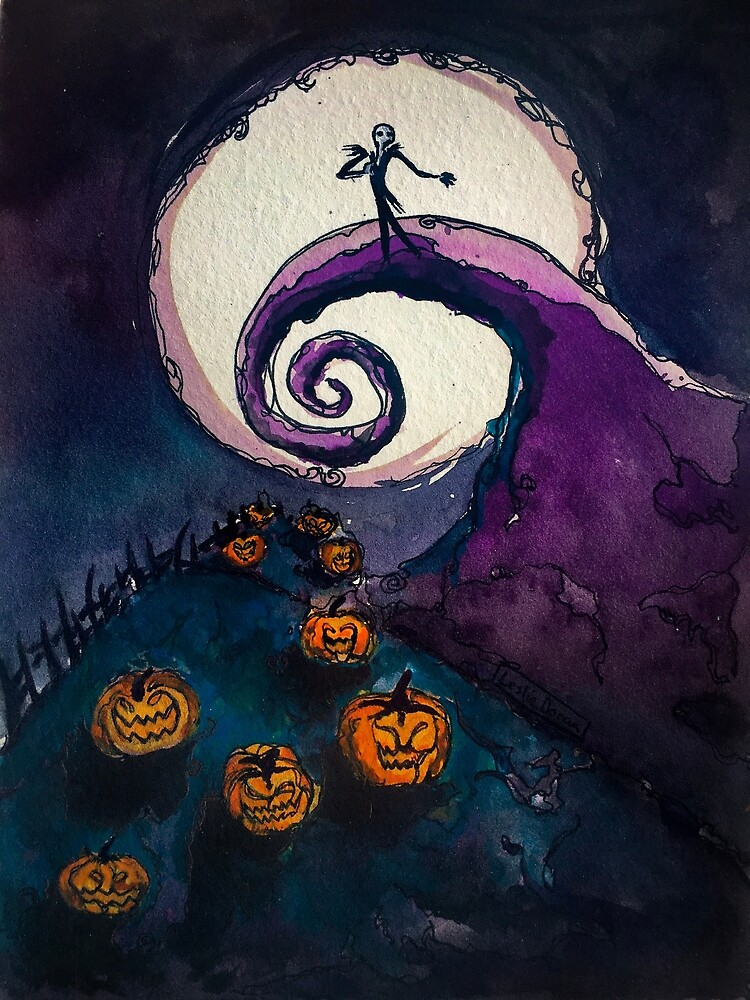 Quot Nightmare Before Christmas Watercolor Art Quot By