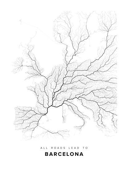 All Roads Lead to Barcelona (Western Europe edition) by LaarcoStudio