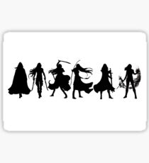 Throne of glass cover silhouettes  Sticker