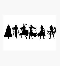 Throne of glass cover silhouettes  Photographic Print