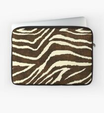 ZEBRA IM WINTER BROWN UND BEIGE ANIMAL DRUCK Laptoptasche