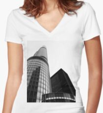 Converge & Separate Women's Fitted V-Neck T-Shirt