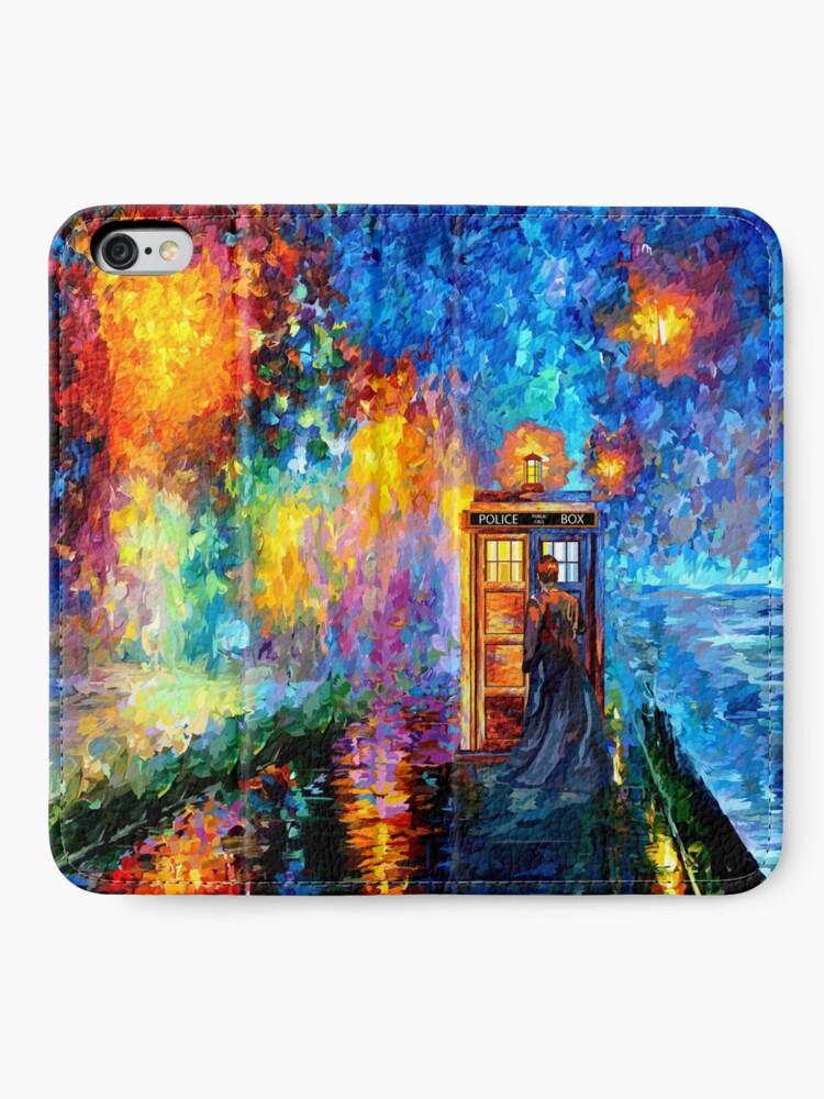 Alternative Ansicht von Mysteriöser Mann am schönen Regenbogen-Platz iPhone Flip-Case