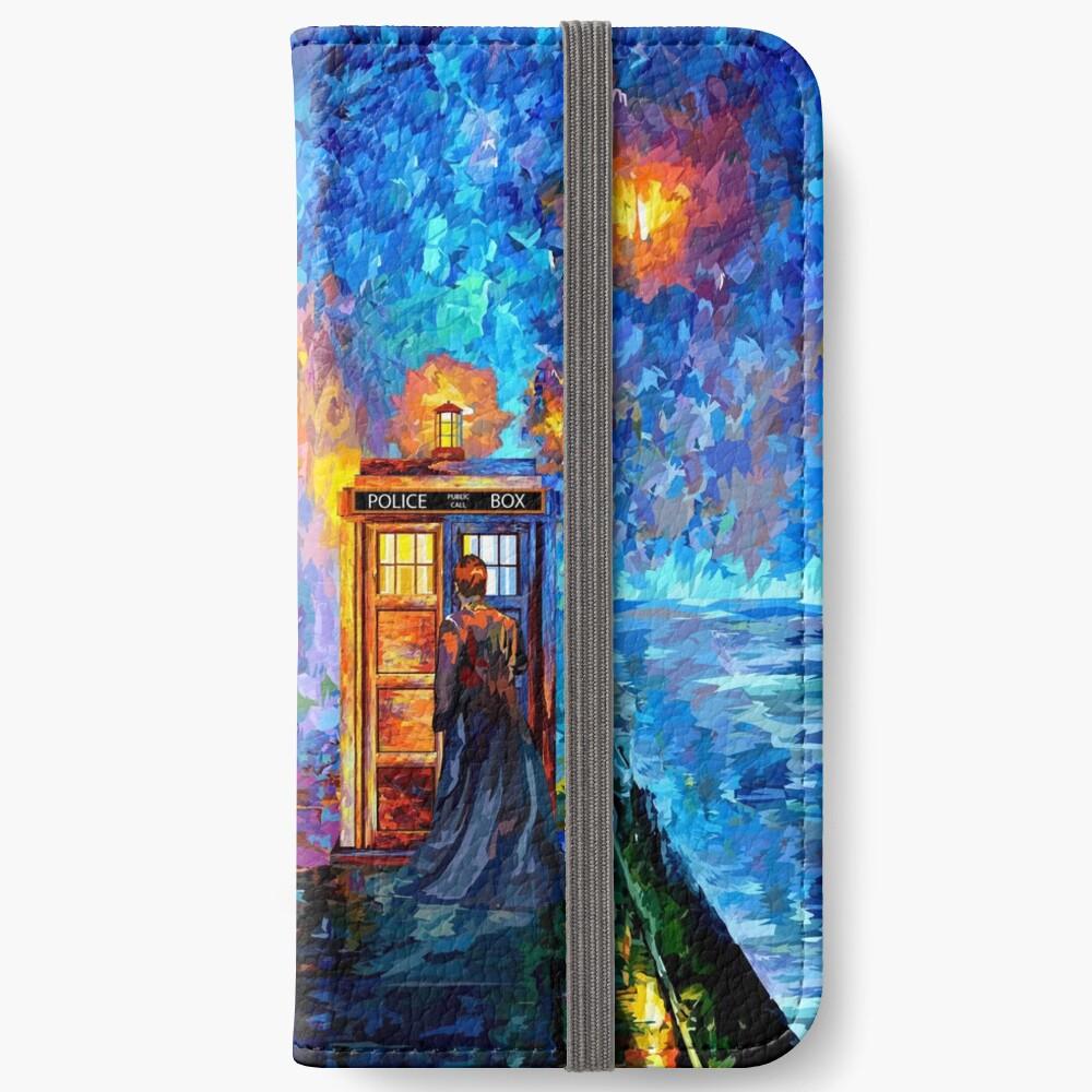 Mysteriöser Mann am schönen Regenbogen-Platz iPhone Flip-Case