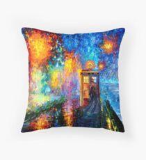 Mysterious Man at beautiful Rainbow Place Throw Pillow