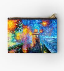 Mysterious Man at beautiful Rainbow Place Studio Pouch