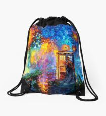 Mysterious Man at beautiful Rainbow Place Drawstring Bag