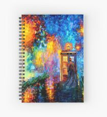 Mysterious Man at beautiful Rainbow Place Spiral Notebook