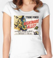 Nightmare Alley, vintage horror movie poster Women's Fitted Scoop T-Shirt