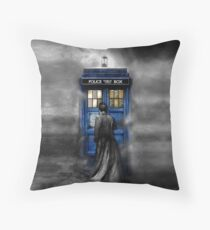 Mysterious man in the mist Throw Pillow