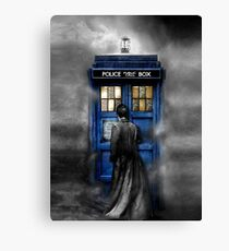Mysterious man in the mist Canvas Print