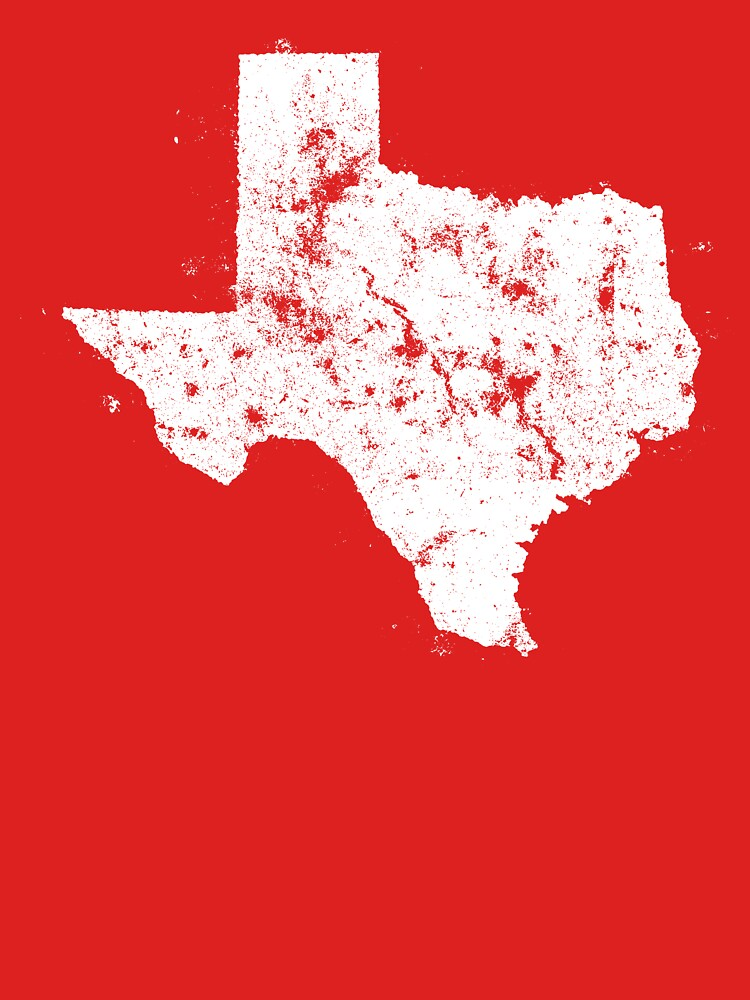 Vintage State Map Silhouette of Texas (White) by Chocodole