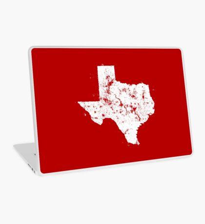 Vintage State Map Silhouette of Texas (White) Laptop Skin