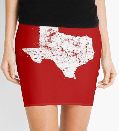 Vintage State Map Silhouette of Texas (White) Mini Skirt