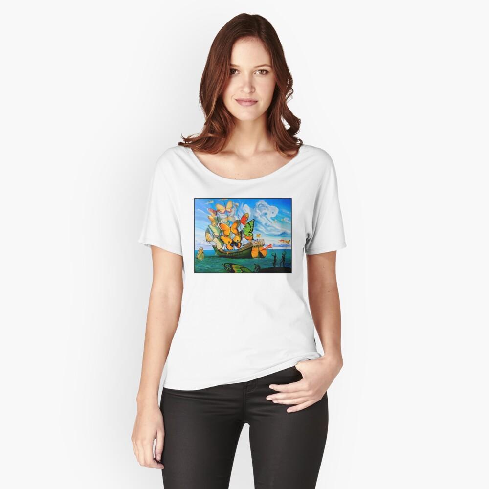 SCHMETTERLING LIEFERUNG: Vintage Dali abstrakte Malerei drucken Baggyfit T-Shirt