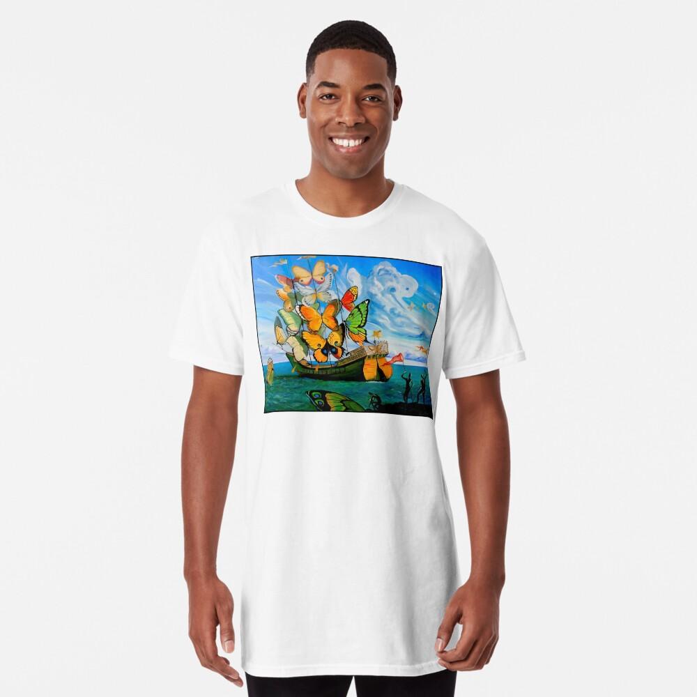 SCHMETTERLING LIEFERUNG: Vintage Dali abstrakte Malerei drucken Longshirt