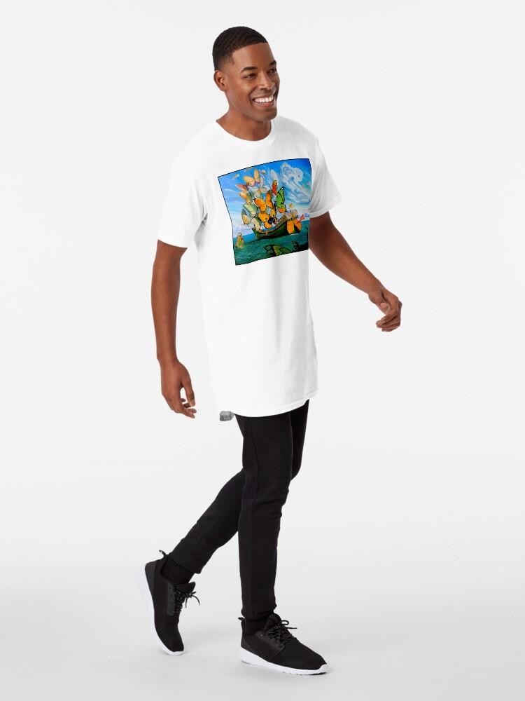 Alternative Ansicht von SCHMETTERLING LIEFERUNG: Vintage Dali abstrakte Malerei drucken Longshirt
