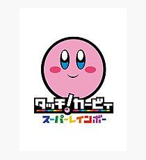 Kirby and the Rainbow Curse Photographic Print