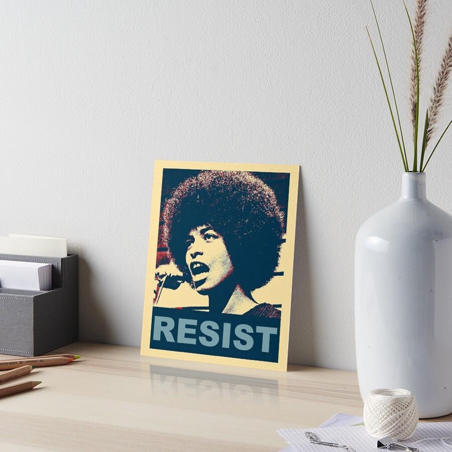 Angela -Resist Galeriedruck