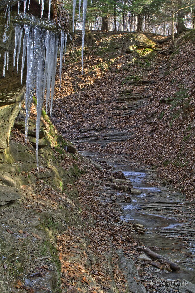 Trail #3 - Icicles by Jeff VanDyke