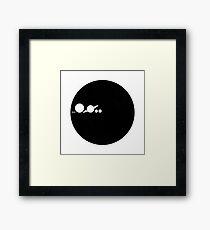 Solar Scale Minimalism Framed Print