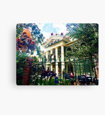 Daytime Haunted Mansion Canvas Print