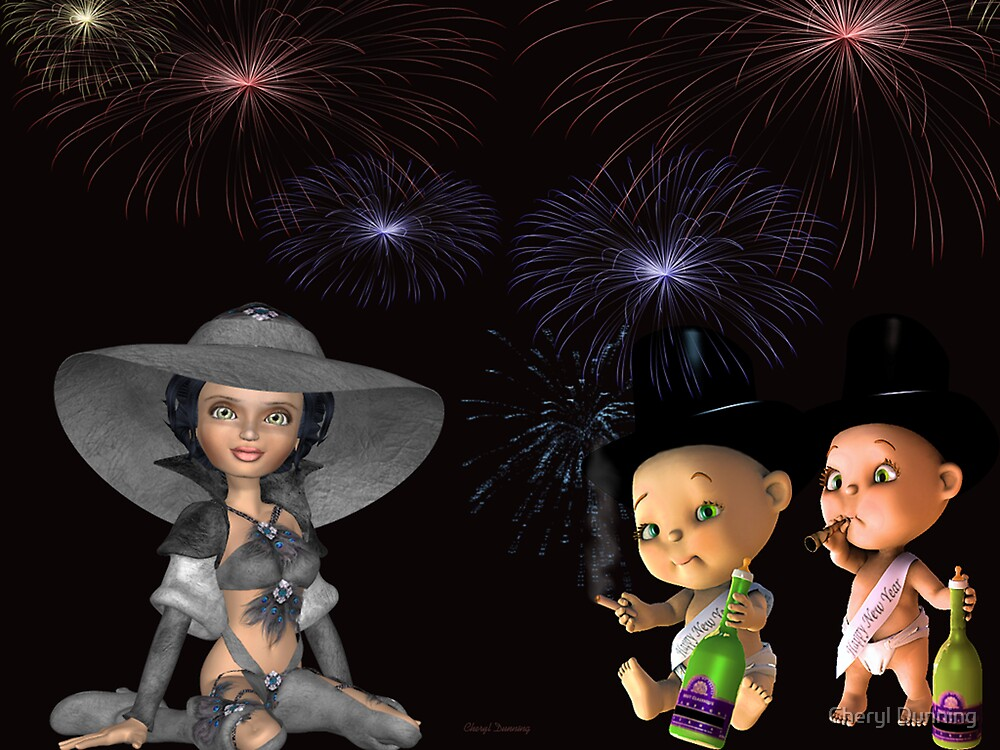 happy new year by Cheryl Dunning