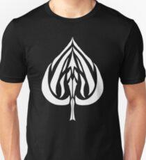 Ace of Spades White Unisex T-Shirt