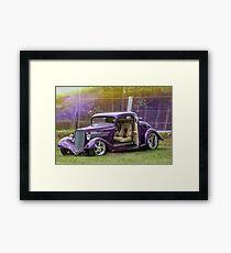 Purple 3 Window Framed Print