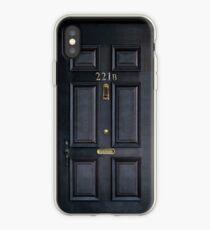 221b Bäcker Straße schwarz Holztür iPhone-Hülle & Cover