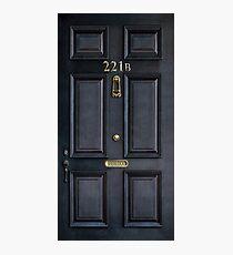221b baker street black wood door Photographic Print