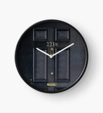 221b baker street black wood door Clock