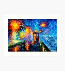 Mysterious Man at beautiful Rainbow Place Art Print