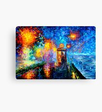 Mysterious Man at beautiful Rainbow Place Canvas Print