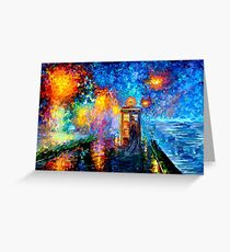 Mysterious Man at beautiful Rainbow Place Greeting Card