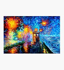 Mysterious Man at beautiful Rainbow Place Photographic Print