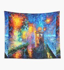 Mysterious Man at beautiful Rainbow Place Wall Tapestry