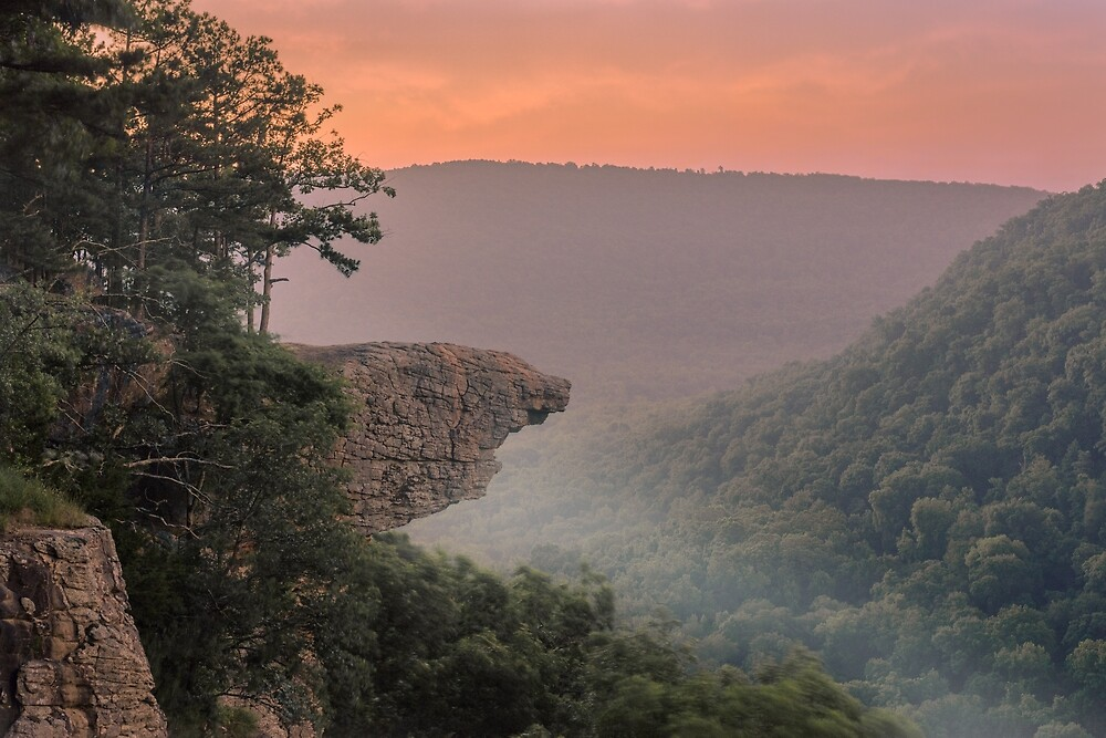 Dawn at Whitaker Point, Arkansas by mattmacpherson