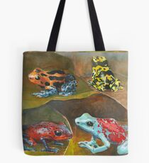 Cute and Colorful Poison Dart Frogs  Tote Bag