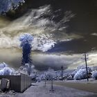 fire in the hills IR by BigAndRed