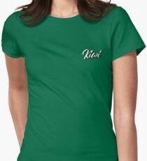White Kiwi Women's Fitted T-Shirt