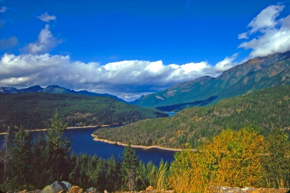 America the Beautiful, the Okanogan, early Fall by Priscilla Turner