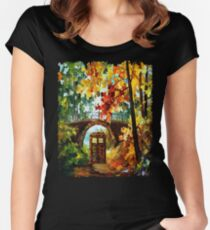 Abandoned Public Phone under the bridge Women's Fitted Scoop T-Shirt