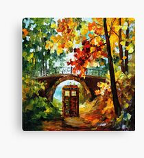 Abandoned Public Phone under the bridge Canvas Print