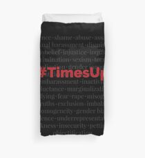 #TimesUp Above the Noise Graphic Duvet Cover